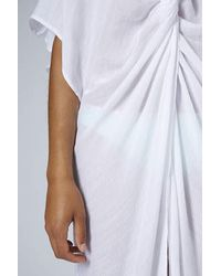 TOPSHOP - White Twist Front Maxi Dress - Lyst