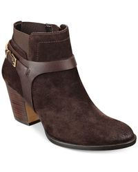 Ivanka Trump | Brown Tasse Booties | Lyst