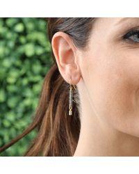 Jemma Wynne - Blue Sapphire Stick Earrings - Lyst
