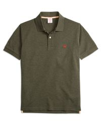 Brooks Brothers - Green Original Fit Heathered Polo Shirt for Men - Lyst