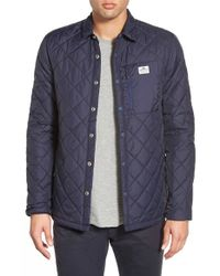 Penfield | Blue 'courtland' Quilted Shirt Jacket for Men | Lyst