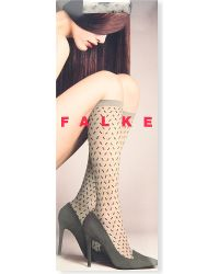 Falke | Gray Tangeri Mibas Knee-high Socks, Women's, 3553 Cinder | Lyst
