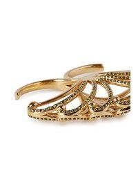 Bochic - Metallic Fan Diamond 18Kt Gold Ring - Lyst