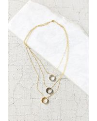 Urban Outfitters | Metallic All The In-betweens High/low Necklace | Lyst