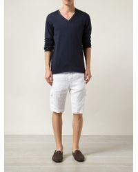 Transit - White Cargo Shorts for Men - Lyst