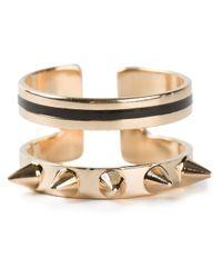 Maria Francesca Pepe | Metallic Double Band Ring | Lyst