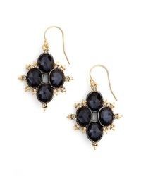 Alexis Bittar | Black Spiked Crystal Drop Earrings - Gunmetal | Lyst