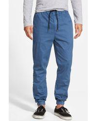 Ezekiel | Blue 'bedford' Twill Jogger Pants for Men | Lyst