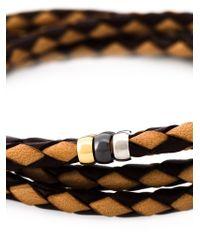 Paul Smith - Brown Braided Wrap Bracelet for Men - Lyst