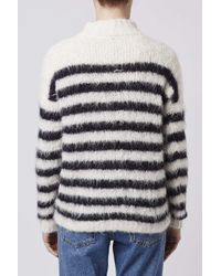 TOPSHOP | White Stripe Knitted Jumper By Boutique | Lyst