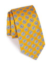 Ted Baker | Blue Floral Silk Tie for Men | Lyst