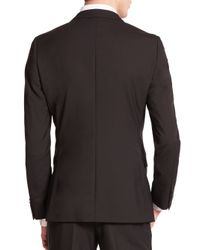 Z Zegna - Black Wool Sportcoat for Men - Lyst