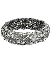 Alexis Bittar | Metallic Miss Havisham Liquid Crystal Broken Glass Bangle Bracelet/Gunmetal | Lyst