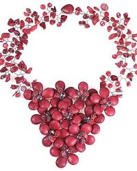 Aeravida | Passionate Red Floral Sweetheart Coral Statement Necklace | Lyst