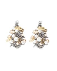 Tom Binns | Metallic Chaotic Pearl Earrings | Lyst