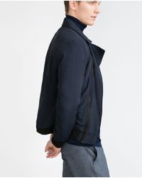 Zara | Blue Aviator Jacket for Men | Lyst