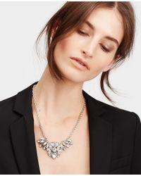 Ann Taylor - Metallic Crystal Brooch Necklace - Lyst