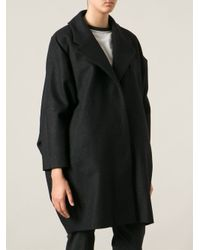 MM6 by Maison Martin Margiela - Gray Cape Style Coat - Lyst