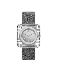 Tory Burch - Metallic Izzie Watch, Silver Crystal/silver, 36 X 36 Mm - Lyst