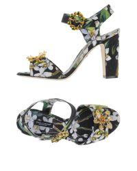 Dolce & Gabbana | Black Sandals | Lyst