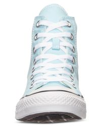 Converse - Blue Men's Or Women's Chuck Taylor Hi Casual Sneakers From Finish Line - Lyst