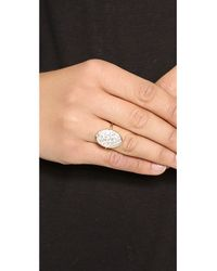 Elizabeth and James | Metallic Constance Ring - White Topaz/gold | Lyst