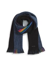 Paul Smith | Blue Rainbow Stripe Scarf for Men | Lyst