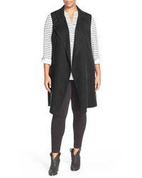 Halogen | Black Sleeveless Trench Coat | Lyst