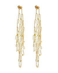 Sia Taylor - Metallic Gold Grid Drop Earrings - Lyst