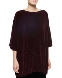 Eskandar - Purple Silk Chenille Bateau-neck Top - Lyst