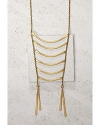 Forever 21 - Metallic Soko Layered Bar Necklace - Lyst