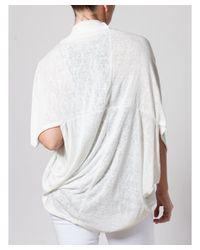 Bungalow 20 - White Gauze Cardigan - Lyst