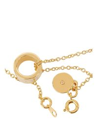 Marc By Marc Jacobs | Metallic Delicate Sweetie Cream Necklace | Lyst