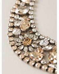 Marina Fossati - Metallic Crystal Embellished Choker Necklace - Lyst