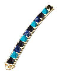 Eddie Borgo - Multicolor Multi-stone Pyramid Bracelet - Lyst