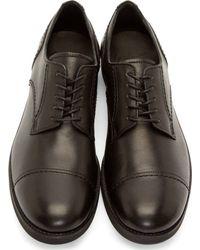 Yohji Yamamoto - Black Leather Derbys for Men - Lyst