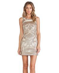 Needle & Thread - Metallic Contour Ornate Mini Dress - Lyst