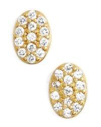 Freida Rothman - Metallic 'femme' Oval Stud Earrings - Lyst