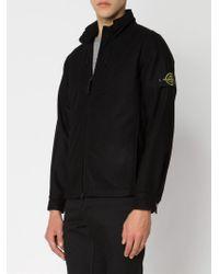 Stone Island - Black Funnel Neck Jacket for Men - Lyst