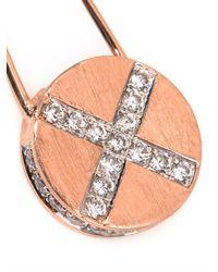 Genevieve Jones - Metallic Riona Shield Safety Pin Earrings - Lyst