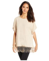 Style & Co. | Natural Short-sleeve Poncho Top | Lyst