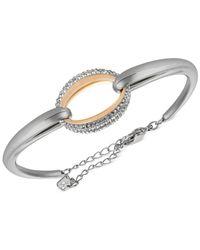 Swarovski | Metallic Two-tone Crystal Oval Bangle Bracelet | Lyst