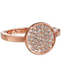 COACH | Pink Pave Disc Ring | Lyst