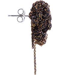 Arielle De Pinto - Metallic Gold Crescent Moon Earrings - Lyst