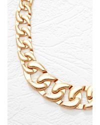 Forever 21 - Metallic Oversized Chain Link Necklace - Lyst