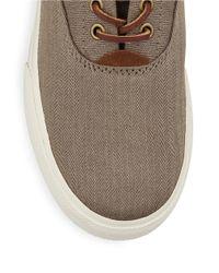 Polo Ralph Lauren | Natural Vaughn Herringbone Lace-up Sneakers for Men | Lyst