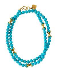 Ashley Pittman - Blue Roho Turquoise Necklace - Lyst