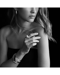 David Yurman   Metallic Sculpted Cable Cuff Bracelet With 18k Gold, 41mm   Lyst