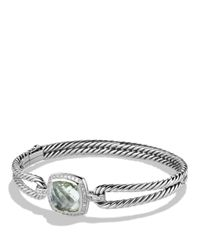 David Yurman | Metallic Albion Bracelet With Prasiolite And Diamonds | Lyst