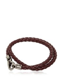 Tod's - Brown My Colors Braided Leather Bracelet for Men - Lyst